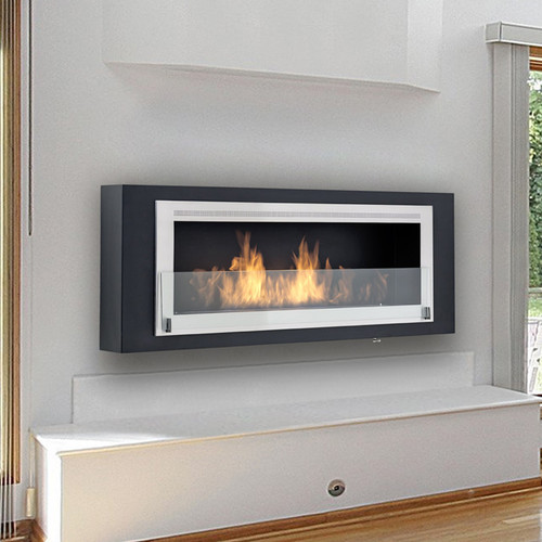 Eco-Feu Santa Cruz 2-Sided Fireplace Black