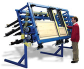 JLT 12 in Big Buddy System Includes: (30) 40 in Clamps & 38 in x 98 in Capacity Pneumatic Double Door Clamp