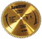 "SawStop Titanium Series 80-Tooth 10"" Blade"