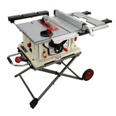 "Jet Woodworking  Jet JBTS-10MJS, 10"" Bench Top Jobsite Tablesaw with Retractable Stand"