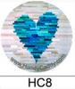 Blue Heart Quilt Block Handy Pop with Clip