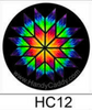 Rainbow Lonestar Handy Pop on Black Background with Clip