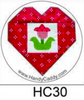 Flower Heart Handy Pop with Clip