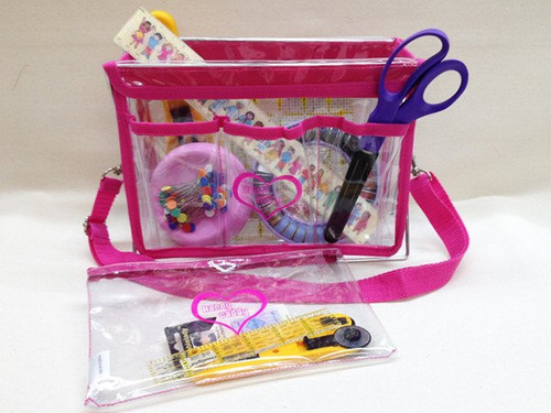 Handy Caddy Extra Hot Pink with Zippered Bag accessory