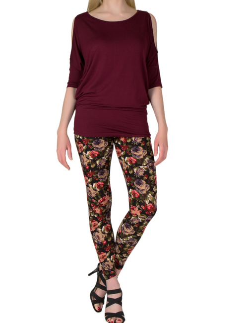 Garden of Eden Leggings ULTRA SOFT and stylishly comfortable for any occasion!