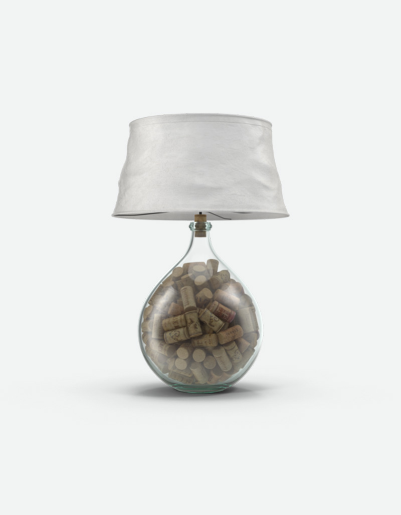 Cork Filled Lamp