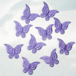 Iron On Patch Applique - Butterfly Purple Mini 10 Pack