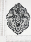 Embroidered Sheer  Applique BLACK - 12 Pack