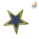 """Iron On Patch Applique - Bordered Star 1 1/4"""" 10 Pack *Colors*"""