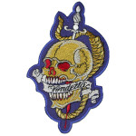 Iron On Patch Applique - Skull Vendetta