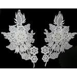 Venice Lace Collar Appliques - Left & Right White