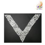Venice Lace Yoke Applique - Large V IVORY