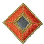 Iron On Patch Applique - Diamond Mirrored Orange
