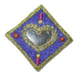 Iron On Patch Applique - Diamond Mirrored Blue