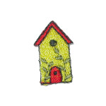 Iron On Patch Applique - Bird House Pack 10