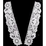 Collar Appliques Venise Lace L & R White