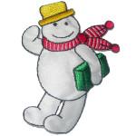 Iron On Patch Applique - Snowman.