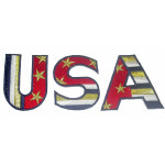 Iron On Patch Applique - USA Patriotic Letters
