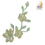 Iron On Patch Applique - Brocade Flower Spray