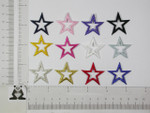 "Iron On Patch Applique - Open Star 1 1/4"" (31.75mm) *Colors*"