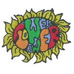 Iron On Patch Applique - Flower Power Hippie
