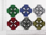 Iron On Patch Applique - Celtic Cross Symbol *Colors*