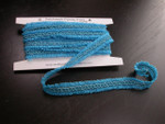 "Braid 3/4"" (20mm)  Sheer Looped Ribbon Design 5 Yards  TURQUOISE"