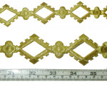 "Iron On Patch Applique - Decorative Strip Met Gold 12"" & up"