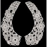 Collar Appliques Venise L & R WHITE,.