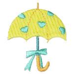 Iron On Patch Applique - Umbrella Yellow