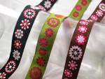 """Jacquard Ribbon 7/8"""" Flowers *Colors*"""