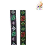 "Jacquard Ribbon 1/2"" Native Pattern *Colors* 10 Yards"