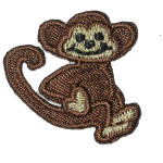 Iron On Patch Applique - Monkey with Tail up