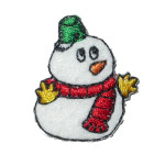Iron On Patch Applique - Snowman Mini