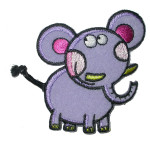 Iron On Patch Applique - Elephant with Cord Tail