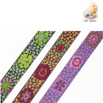 "Jacquard Ribbon 7/8"" Guinea Flower *Colors* Per Yard"