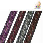 "Jacquard Ribbon 1"" Metallic *Colors* Per Yard"