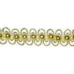 "Beaded Braid 5/8"" Metallic Gold Per Yard"