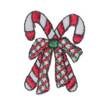 Iron On Patch Applique - Candy Canes