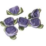 Ribbon Roses Purple Open Flower 1 Gross Bag