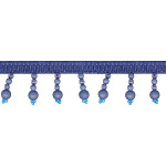 """Beaded Trim 1 3/4"""" Frosted Blue 12 Yards"""