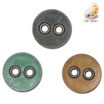 "Button 1 1/2"" Polyamid 2 Metal Hole *Colors* Per Piece"