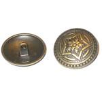 "Button 1 1/4"" Metal Shank Antique Brass Finish Per Piece"
