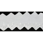 "Eyelet 2"" White Saw Edge 15 Yard Bolt"