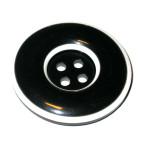 "Button 1 1/4"" Flat Black & White 4 Hole Per Each"