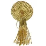 """Tassel 4"""" Drop Medallion Style Metallic Gold"""
