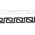 "Iron On Patch Applique - Decorative Strip Black Revrec 7/8"" 12"" & up"