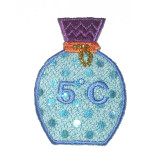Iron On Patch Applique - Fancy Scent Bottle 6978