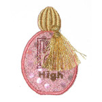 Iron On Patch Applique - Fancy Scent Bottle 6979