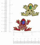 Iron On Patch Applique - Frog Gem Eye *Colors*